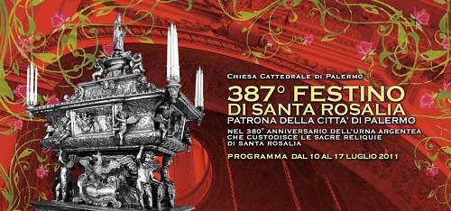 Palermo, 387° Festino di Santa Rosalia: il programma