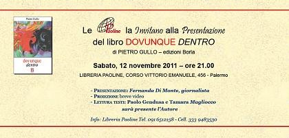 """Palermo, alla Libreria Paoline si presenta """"Dovunque Dentro"""""""