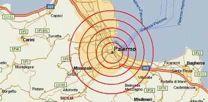 Avvertita forte scossa di terremoto a Palermo