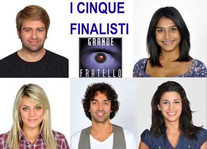 Grande Fratello, puntata 23: ecco chi sono i finalisti 2012!