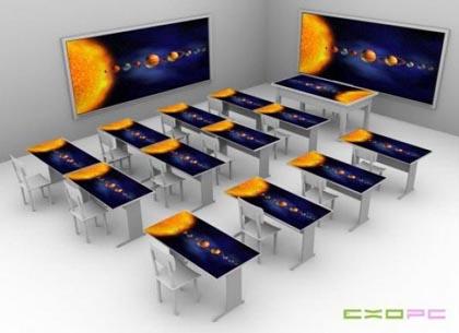 """La scuola del futuro? Avrà i banchi """"Touch Screen""""!"""