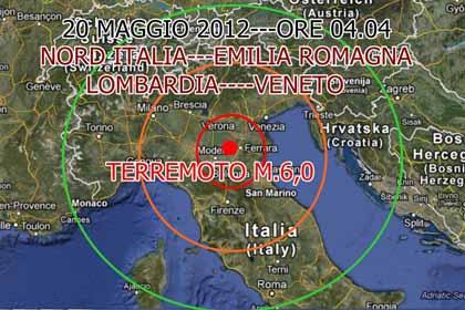 EDIZIONE STRAORDINARIA: Forte scossa di terremoto in Emilia