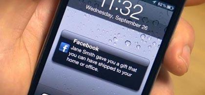 Facebook, al via la possibilità di acquistare regali