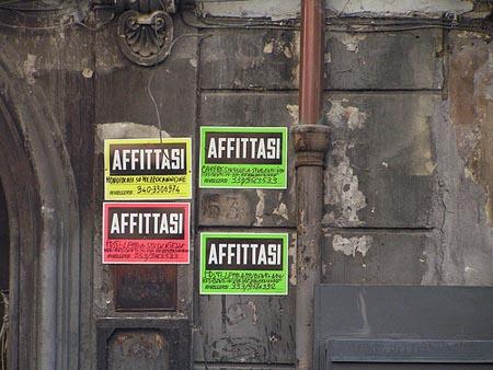 Italia, stop al pagamento dell'affitto in contanti