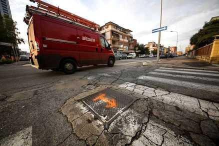 Palermo, i pericoli della pioggia nel quartiere Boccadifalco