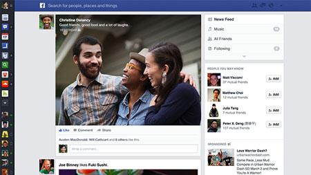 Facebook, nuova grafica in arrivo