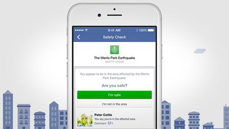 """Facebook, al via la funzione """"sto bene"""""""