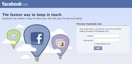 "Facebook lancia ""Lite"", il Social Network ""alleggerito"""