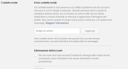 """Facebook, via ai """"Contatti Eredi"""" anche in Italia"""