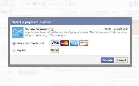 Facebook, al via la possibilità di effettuare donazioni