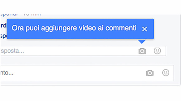 Facebook lancia i video nei commenti