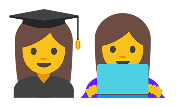 Google lancia le emoticon al femminile