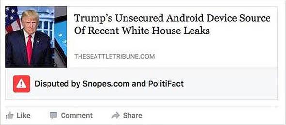Facebook avviserà in caso di notizie false