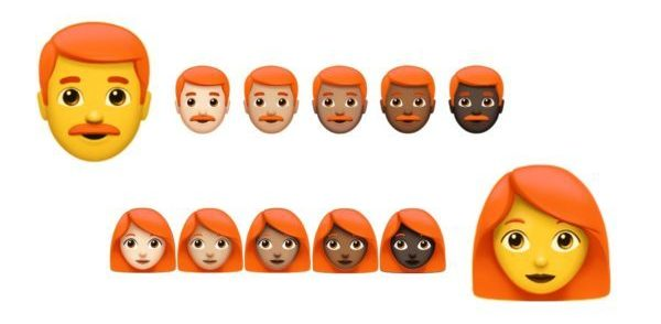 Emoticon - Dall'anno prossimo arrivano quelle con i capelli rossi