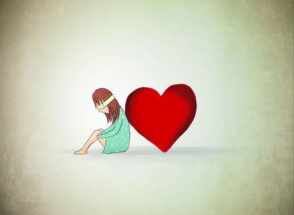 Un cuore pieno d'amore inutile per la gente…