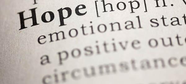 Sperare è l'imperativo anche se è così difficile