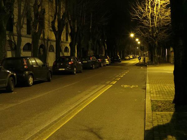 I silenzi delle strade nella notte