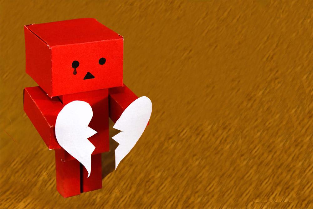 Il dolore del cuore frantumato