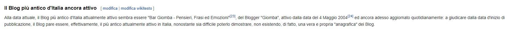 Bar Giomba su Wikipedia
