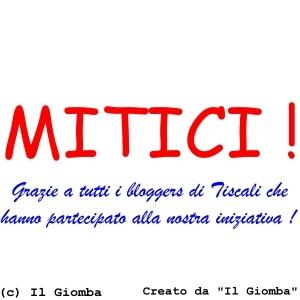 BLOGGERS DI TISCALI , SIETE MITICI !