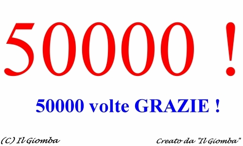 50.000 VISITE SUL BLOG DEL GIOMBA : 50.000 VOLTE GRAZIE !
