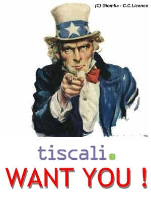 TISCALI BLOG WANT YOU : Dite la vostra opinione su Tiscali Blog !
