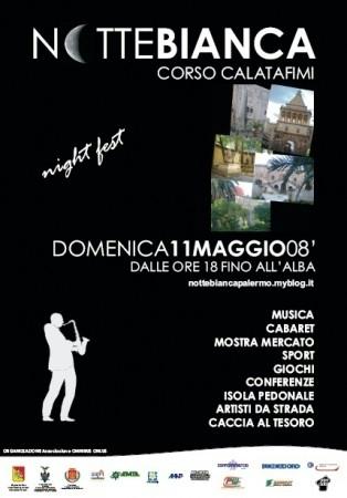 Cronaca della Notte Bianca a Palermo