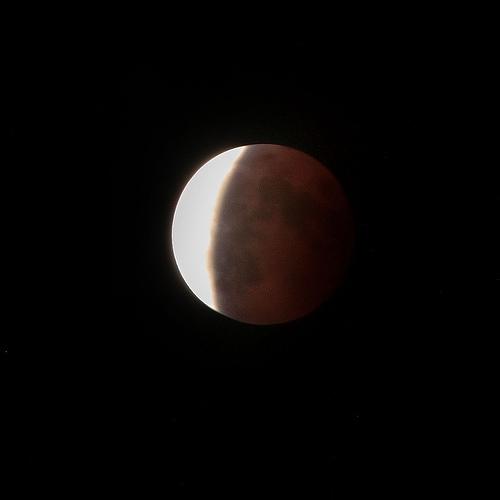 Lo spettacolo dell'eclissi di luna